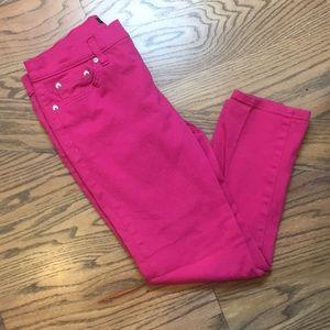Ralph Lauren Modern Straight Crop Hot Pink Jeans